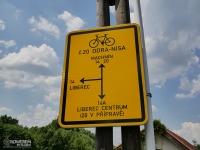 Oznakowanie szlaku Odra Nysa