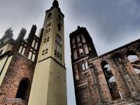 Ruiny kościoła i Ratusz w Gubinie