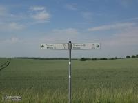 Oznakowanie szlaku na niemieckim Pomorzu