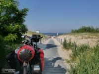 Wjazd na plażę w Ahlbeck