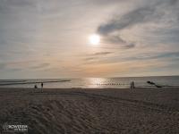 Zachód słońca za Darłówkiem