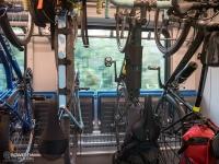 Przedział rowerowy w pociągu na lini Gdańsk - Katowice
