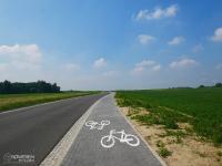 Droga rowerowa między Chudowem a Gierałtowicami
