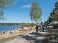 Jak widać jezioro Chechło-Nakło to bardzo popularne miejsce wśród rowerzystów