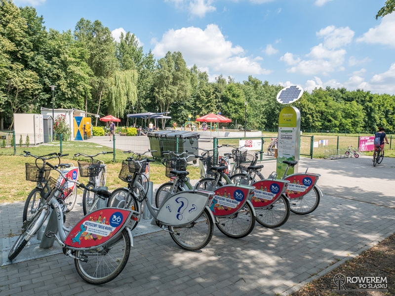 Stacja wypożyczalni roweroów - Dolina Trzech Stawów