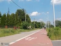 Droga rowerowa między parkiem Zielona a Pogorią III