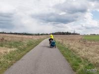 Rowerem przez Jurę z dzieckiem w przyczepce