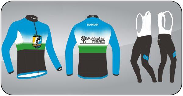 Stroje rowerowe - bluza, spodnie